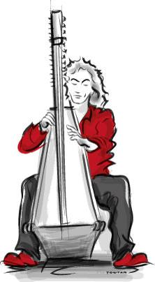 Lever harp artist
