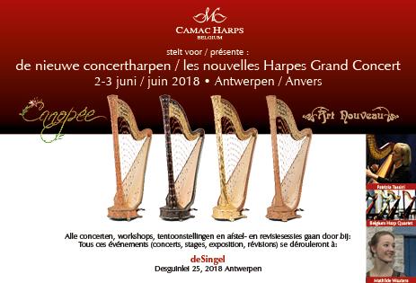 Présentation de nos nouvelles harpes Grand Concert à Antwerp