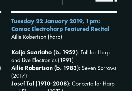 Camac Electroharp Featured Recital · Borough New Music, London