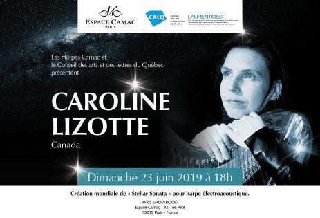 "World Premier of Caroline Lizotte's ""Stellar Sonata"" for electroacoustic harp, at Camac Harps Paris"