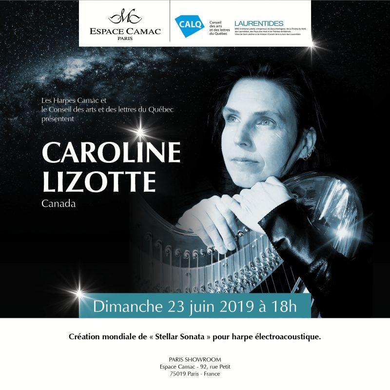 Caroline Lizotte at Camac Harps Paris