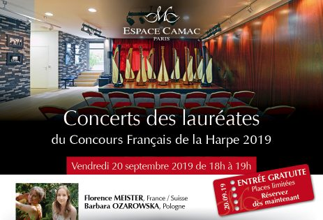 Concert by the prizewinners of the Concours Français de la Harpe 2019
