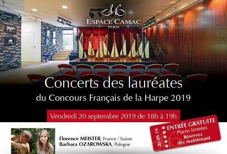 Concert des lauréates du Concours Français de la Harpe 2019