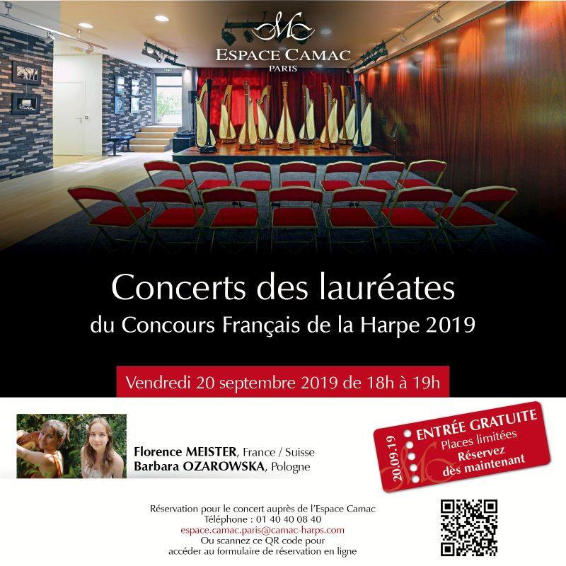 Concerts des lauréates du Concours Français de la Harpe 2019