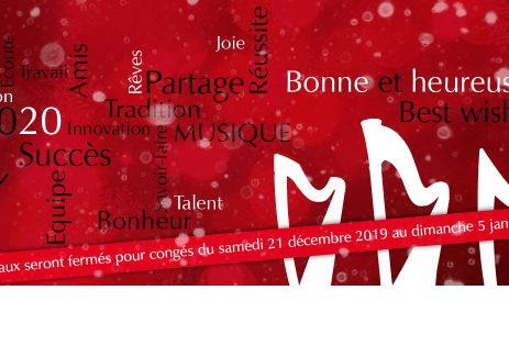 Camac France Christmas holiday closure