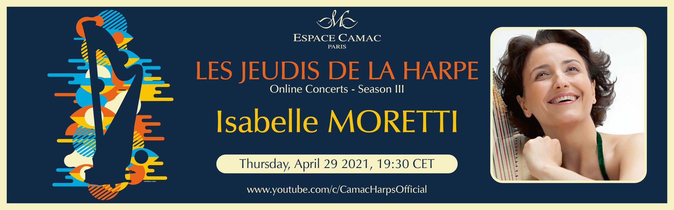 Les Jeudis de la Harpe : Isabelle Moretti
