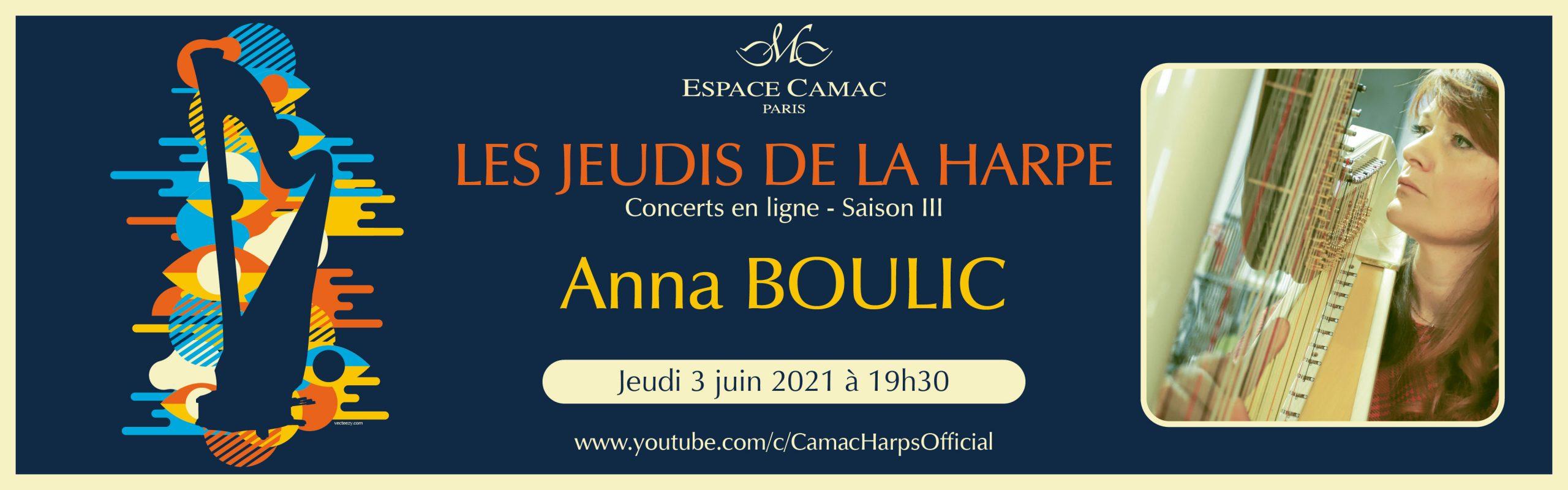 Les Jeudis de la Harpe : Anna Boulic