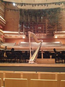 "The ""Mirror Harp"" safely arrived in the Maison Symphonique, Montreal"