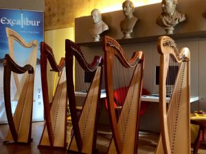 Part of Camac Italia's exhibition as part of the Bologna Celtic Harp Festival 2016