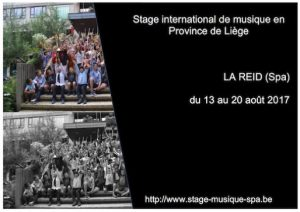 stage musical de Spa 2017