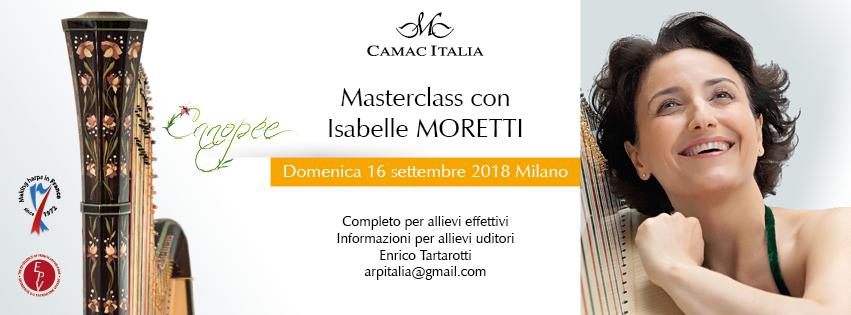 Isabelle Moretti masterclass, Milan 2018