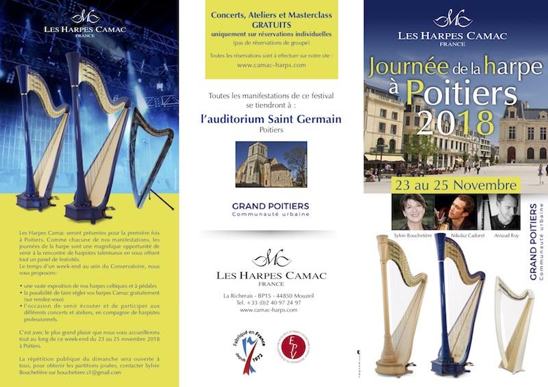 Journées de la harpe à Poitiers, Novembre 2018