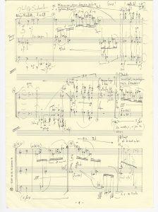'Mercure', page one, Schoeller